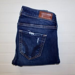 Hollister Low Rise Super Skinny Dark Wash